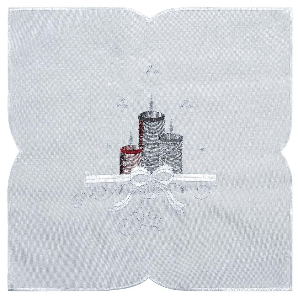 Forbyt Vánoční ubrus Svíčky barevná, 35 x 35 cm