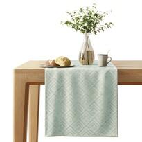 AmeliaHome Traversă masă Caspe gri cu verde, 40 x 140 cm