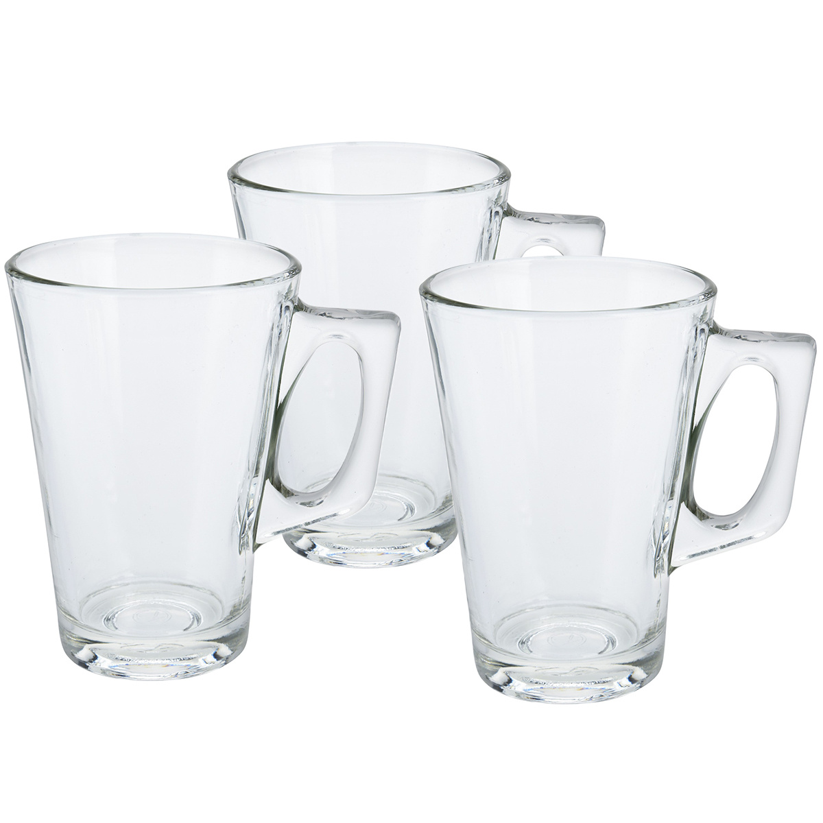 Koopman Sada pohárov s uškom na kávu 250 ml, 3 ks