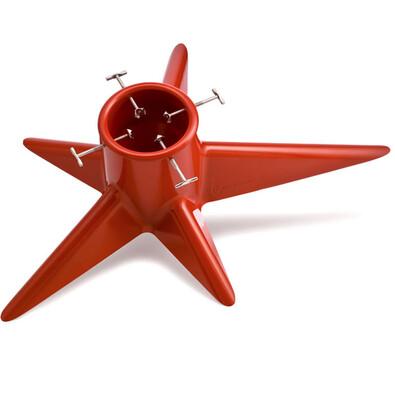 Stojánek na vánoční strom Hvězda, červený