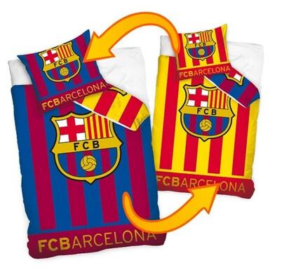 Bavlněné povlečení FC Barcelona Double, 160 x 200 cm, 70 x 80 cm