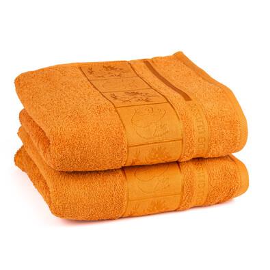 4Home ručník Bamboo oranžová, 50 x 100 cm, 2 ks