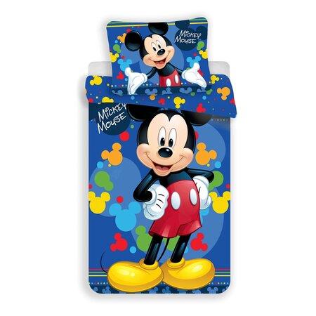 Jerry Fabrics Dětské povlečení Mickey Blue 03 micro, 140 x 200 cm, 70 x 90 cm