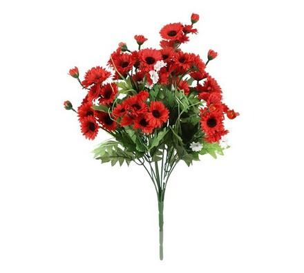 Umělá kytice červených květin