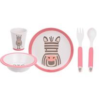 5 részes gyermek étkészlet, Zebra