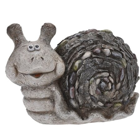 Csiga kerti dekoráció, 21 cm