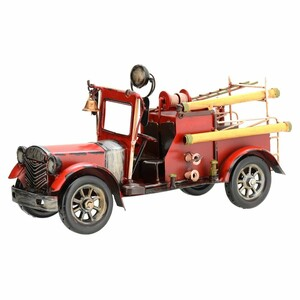 Dekorační model auta Fire truck, červená