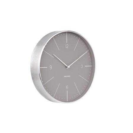 Karlsson 5682GY Designové nástěnné hodiny, 28 cm