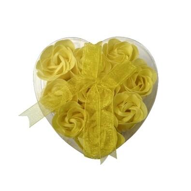 Mýdlové květy, 9 ks, žlutá