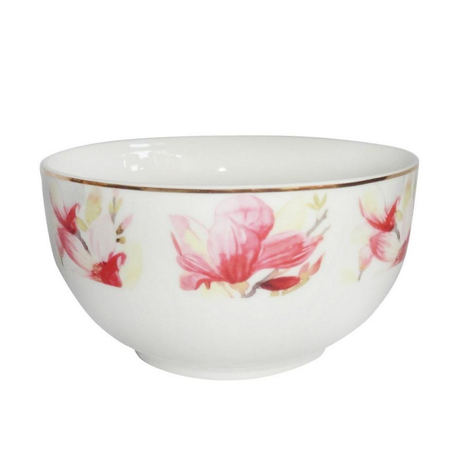 Porcelánová miska s květinami