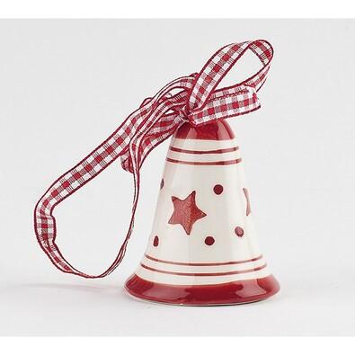 Zvoneček, bílá + červená