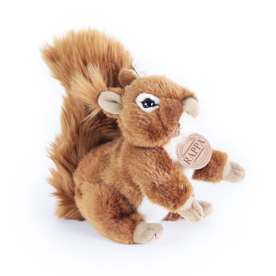 Veveriță Rappa, din pluș, 17 cm imagine 2021 e4home.ro