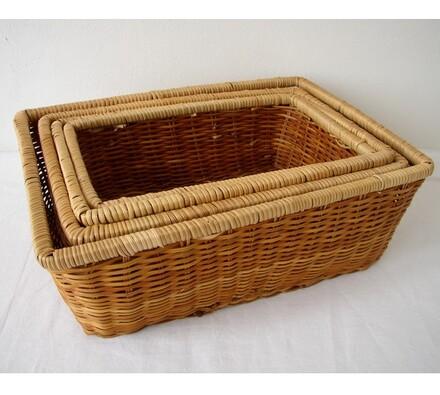 Kapradinový košík obdélník set 4 kusy