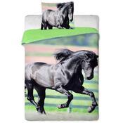 Bavlnené obliečky Čierný kôň, 140 x 200 cm, 70 x 90 cm