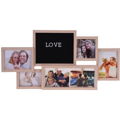 Fotorámček na 7 fotografií Alvadia, 75 x 37 cm