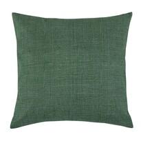 Polštářek Adéla Uni tmavě zelená, 40 x 40 cm