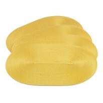 Podkładki na stół Deco owalne żółte, 30 x 45 cm, 4 szt.