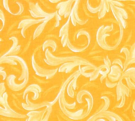 Pěnové sedáky na židle, žlutá