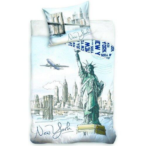Jerry Fabrics Bavlněné povlečení New York Statue, 140 x 200 cm, 70 x 90 cm