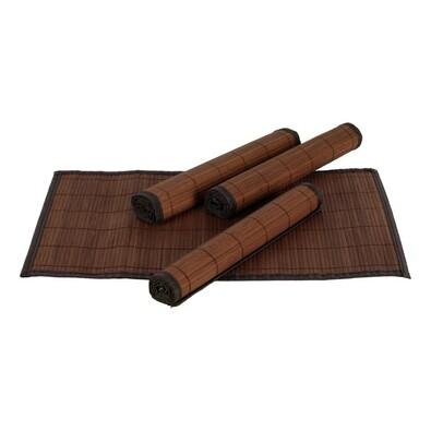 Bambusové prostírání tm. hnědá, 30 x 45 cm, sada 4 ks