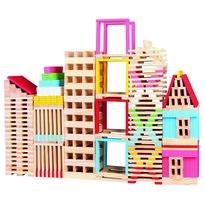 Joc modular din lemn Mertens Oraș, 150 piese