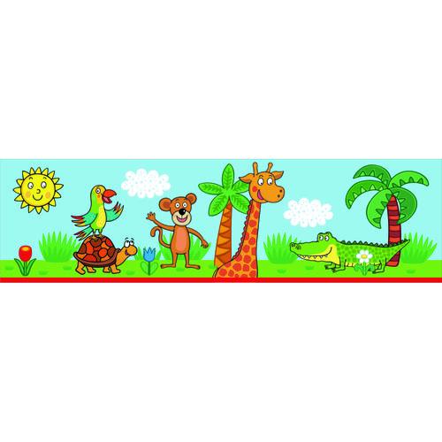AG Art Samolepicí bordura Žirafa, 500 x 14 cm
