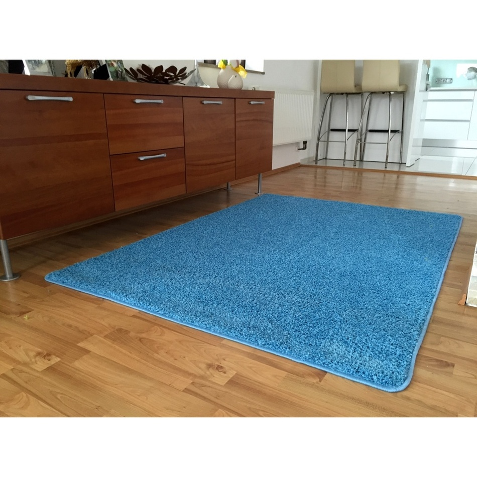 Vopi Kusový koberec Color shaggy modrá, 140 x 200 cm