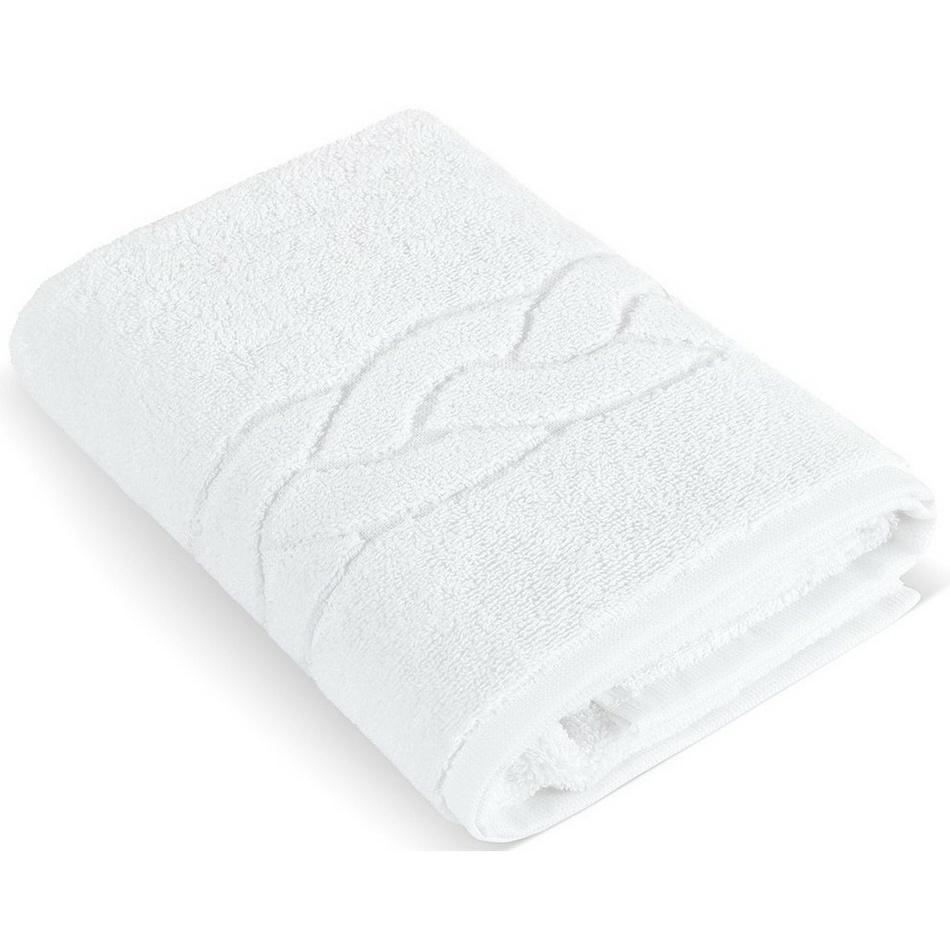 Bellatex Hotelový froté ručník 001 bílý 550 g, 50 x 100 cm