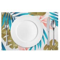Domarex Pink Leaves tányéralátét, 30 x 40 cm