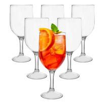 Orion Sada plastových pohárov na víno PIKNIK 0,35 l, 6 ks