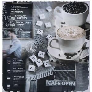 Obraz na plátně Café Sondrio, 29 x 29  cm