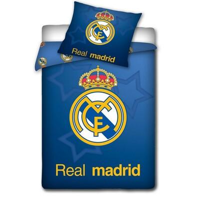 Bavlněné povlečení Real Madrid Blue Stars, 140 x 200 cm, 70 x 80 cm