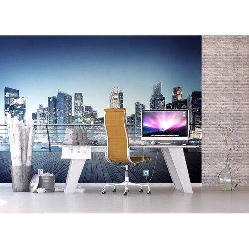 Fototapeta XXL Noční panorama mrakodrapů 360 x 270 cm, 4 díly