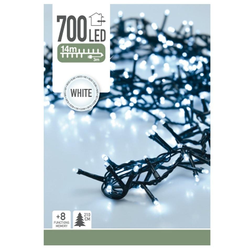 Světelný řetěz Twinkle bílá , 700 LED