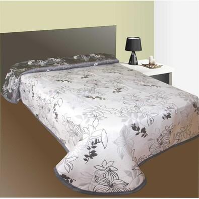 Přehoz na postel Lisabon šedý, 240 x 260 cm