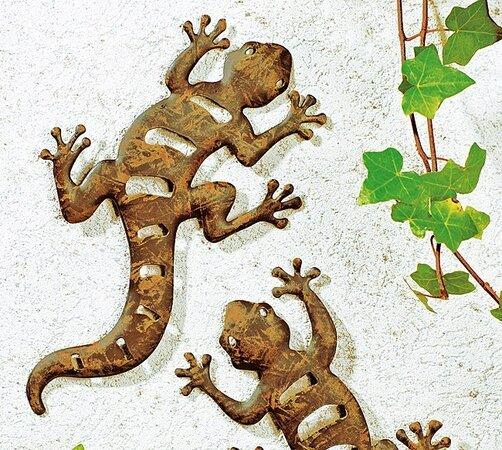 Ještěrky na zeď, hnědá, 31 cm