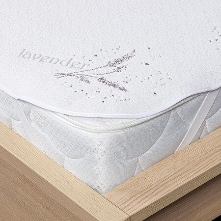 Protecție saltea 4Home Lavender cu elastic, 160 x 200 cm