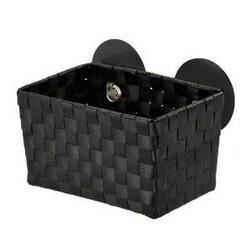 Wenko košík s přísavkami černá