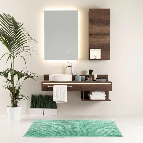 AmeliaHome Bati fürdőszobaszőnyeg, türkiz, 50 x 70 cm