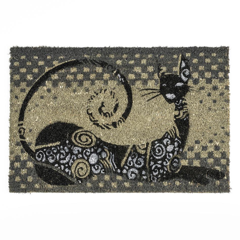 BO-MA Trading Kokosová rohožka ležiace mačka, 40 x 60 cm