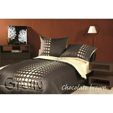 Saténové povlečení Choco Brown, 140 x 200 cm, 70 x 90 cm