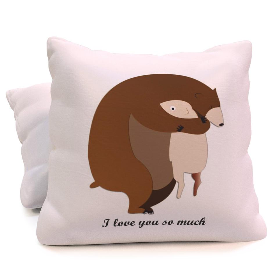 TipTrade Polštářek I love You Teddy Bear, 40 x 40 cm
