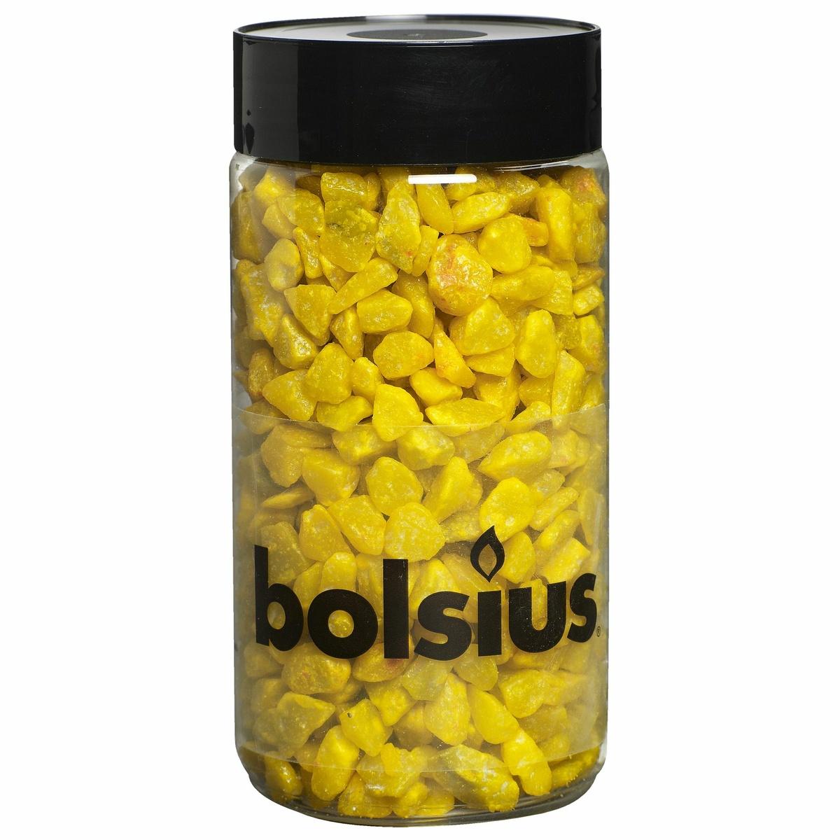 Bolsius Dekorační kamínky 13 mm žlutá, 550 g