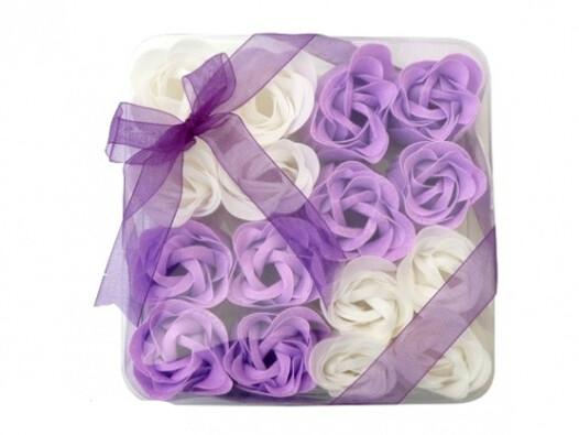 Dekoracyjne kwiaty mydlane, fioletowe