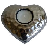 Keramický stříbrný svícen Amare, 13 x 11,5 cm