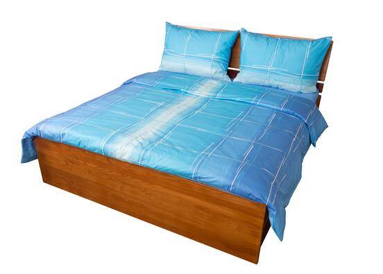 Bavlněné povlečení Hladina modrá, 240 x 200 cm, 2 ks 70 x 90 cm