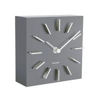 Karlsson KA5781GY Designové stolní i nástěnné hodiny, 15 cm