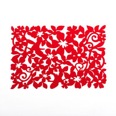 Prostírání plstěné červená, 45 x 30 cm, sada 4 ks