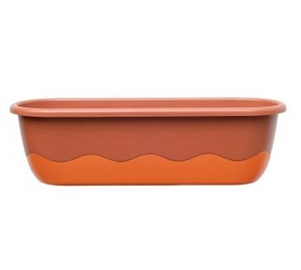Plastia Mareta samozavlažovací truhlík 80 cm oranžový