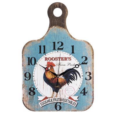 Nástěnné hodiny Dřevěné prkénko Rooster